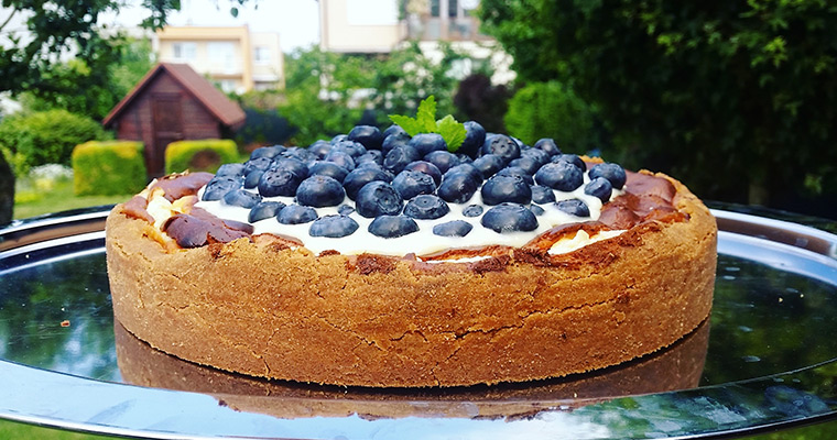 Blueberries cheesecake